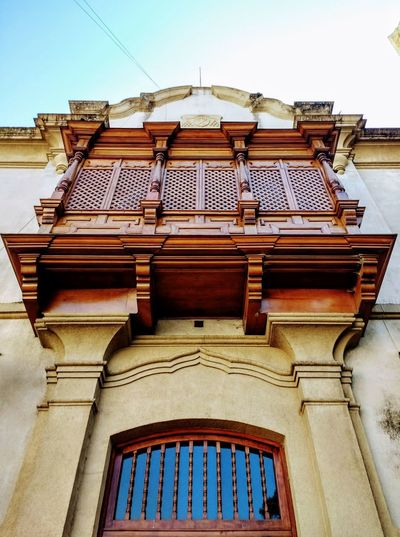 Balcón limeño Architecture Building Exterior Built Structure Closed Balcony Directly Below History Low Angle View Sky The Past Wood Balcony Wood Made