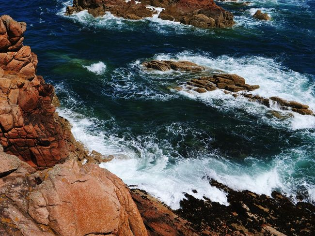 Water Nature Shore Sea Day No People Outdoors Beach High Angle View Rock - Object Beauty In Nature Tranquility Wave Scenics Bretagne Rock See Nature Croisiere