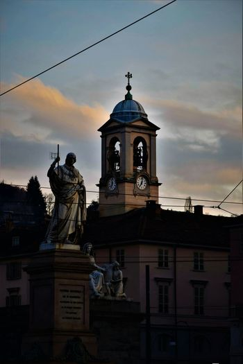 Sunset Sky Cloud - Sky Architecture No People Statue Outdoors Day Beauty In Nature EyeEmNewHere City Italy 🇮🇹 Cityscape Italy Architecture Building Exterior Skyscraper Street Italy🇮🇹 Urban Skyline Scenics Beauty Landscape City Gate Silhouette
