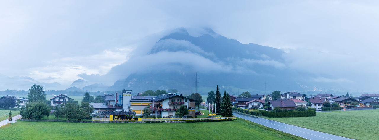 Austria Building Exterior Buildings Clouds Evening Mountains No People Outdoors Panorama Rainy Village