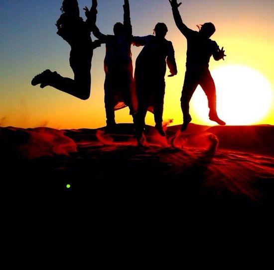 Desert Safari Silhouette