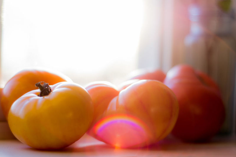 Capture Tomorrow Food Food And Drink Healthy Eating Fruit Wellbeing Freshness Indoors  Close-up No People Group Of Objects Red Orange Color Window Focus On Foreground Selective Focus Apple - Fruit Day Healthy Lifestyle Vegetable Sunlight Ripe
