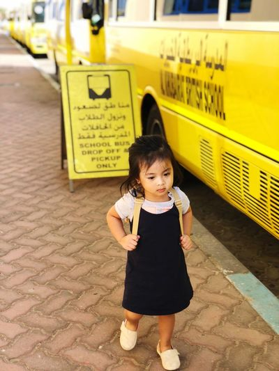Back to School Self Investment Backpack Education School Bus Stop Childhood