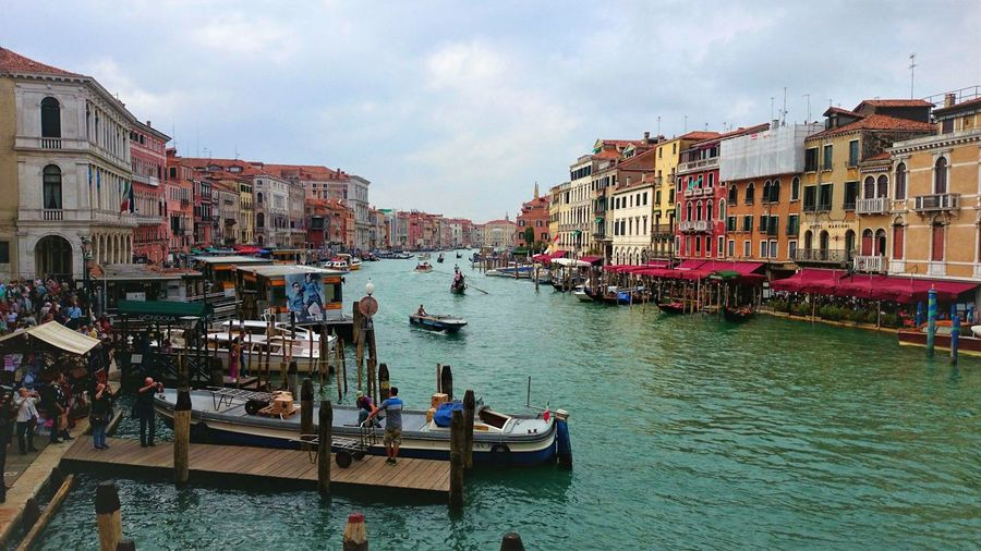 Venice Nautical Vessel Water Transportation Building Exterior Built Structure Canal Waterfront Day Travel Gondola Outdoors Architecture Italy Venice