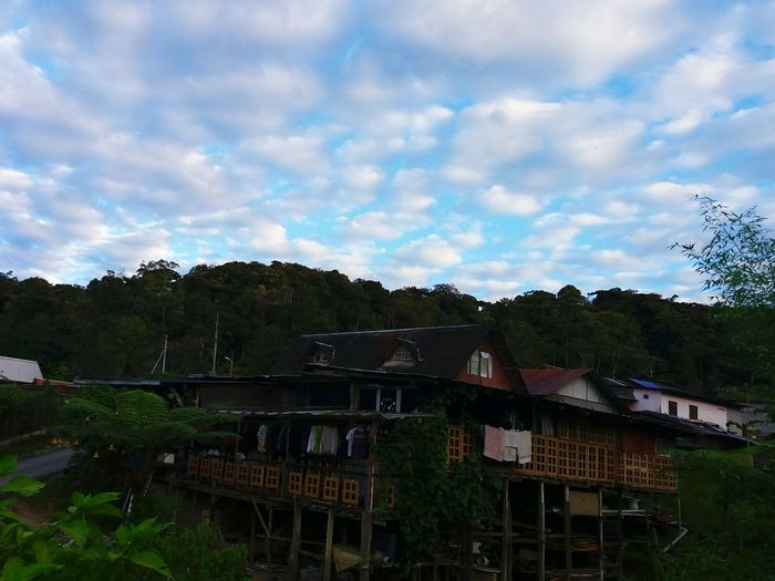 Sky House Nature Tranquility Countryside No People Beauty In Nature Cloud Malaysiaphotography Eyemphotography Traditional House Elegance In Nature