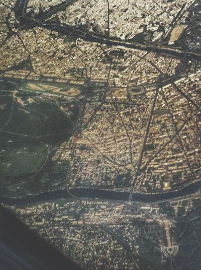 Paris, Tour Eiffel (On the top, at the left), Parc des Princes, Psg, Bois de Boulogne. From An Airplane Window Paris , Taking Photos Hello World