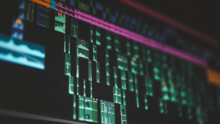 Close-up of illuminated computer screen
