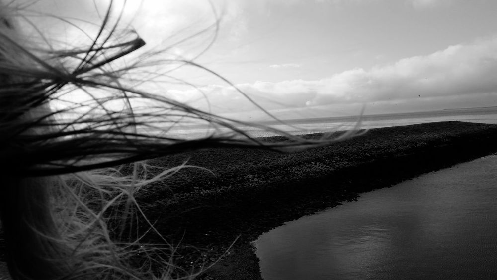 Black And White Melancholic Feeling Inspired Nordsee Deep Thoughts FAR AWAY Sea View Tides Spirit Specialshots Windy Hair Let It Go Special Lost In Thought Wide Sea Neuharlingersiel Atmosphere