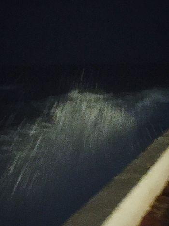 Fresh Air Hello World Nightphotography Seaside Sea Mediterranean  Open Edit Night And Sea Waves Wave
