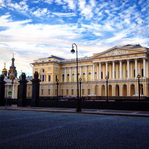 Springtime Saint Petersburg Russia Architecture