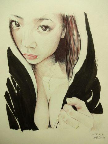 鶴田かな Drawing Paint Ballpoint Esedy