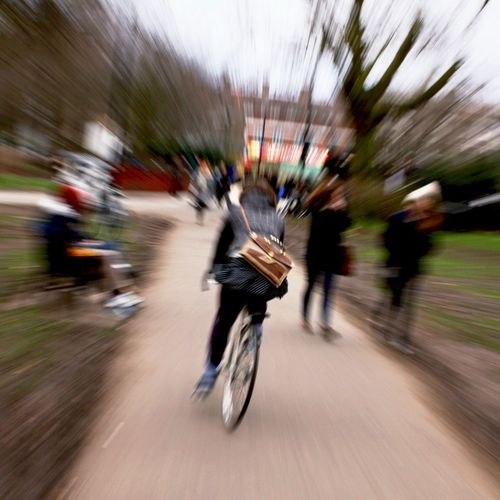 Blurred Motion Speed Motion Bicycle Transportation Mode Of Transport Real People Long Exposure Day Road Full Length City Outdoors Adult People Bag Leather Satchel  Hipster Cycling Urban in London Fields London , United Kingdom MISSIONS: Postcode Postcards