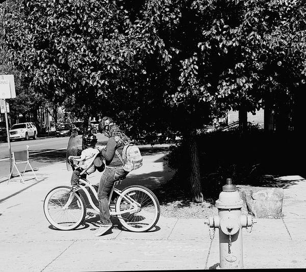 On a bike ride
