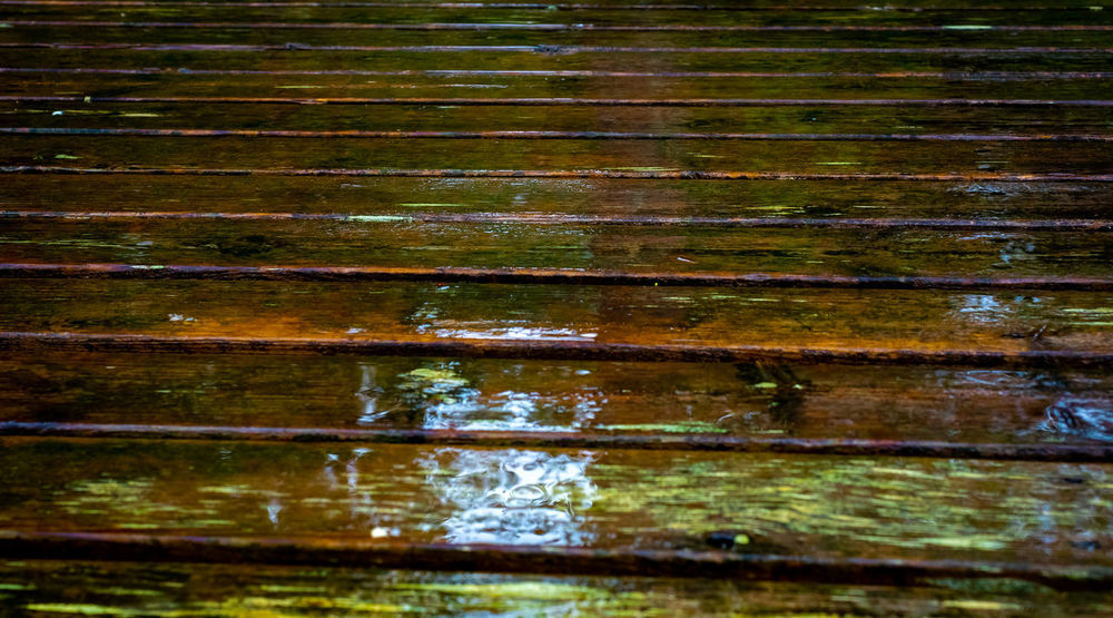 Bootssteg Nature Rain Wood Close-up Landing Stage No People Wood - Material
