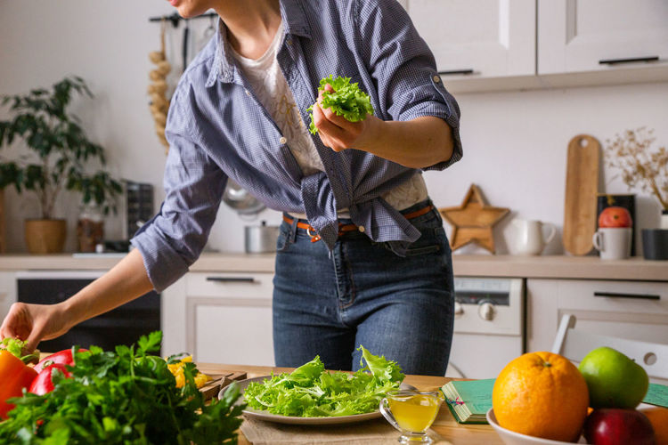 Man preparing food at home