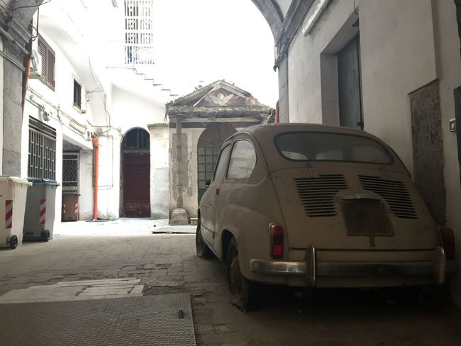 Naples Street View Vintage Style Your Ticket To Europe Architecture Building Exterior Built Structure Car City Mode Of Transport Old Car Outdoors Stationary Transportation Vintage Cars