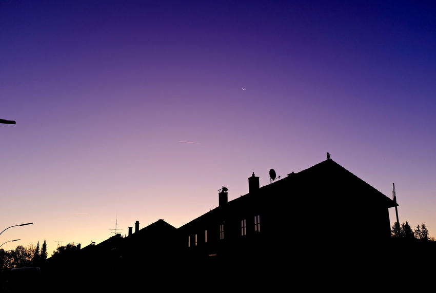 Architecture Building Exterior Built Structure Low Angle View No People Schongau Schongausunrise Silhouette Sky