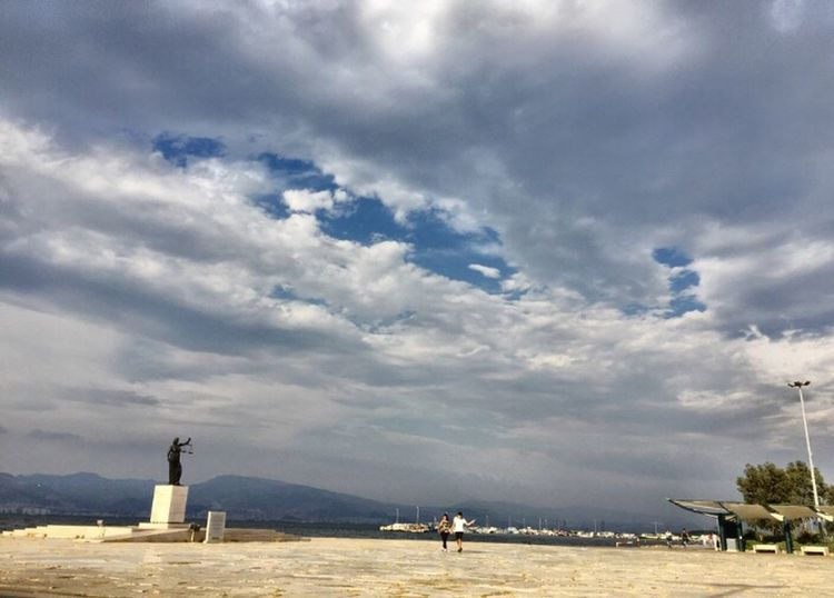 Sea Izmir Turkey Nature Cloud - Sky Sky Real People Men Day Outdoors Beauty In Nature Large Group Of Animals Scenics Women Domestic Animals Large Group Of People Mammal People