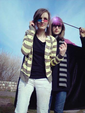 yaaay we were kinda cosplaying eridan amd sollux xD Cosplay Homestuckcosplay Homestuck Cosplaying