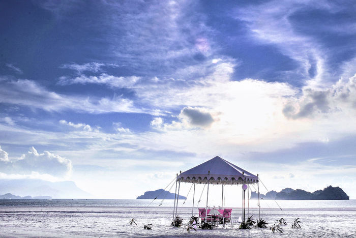 Sunset Ready Beach Beach Tent Cloud - Sky Horizon Over Water Langkawi Island Nature No People Outdoors Sand Scenics Sea Sky Sunlight Tent Tranquil Scene Tranquility Vacations Water Paradise Beach Honeymoon Summer Time  Summer Holidays Been There.