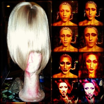 New wig made by me Millena Closertogod Wigart Mycreation Talent ontonight thisjusthappened itsverythat rupaul comeonnatch