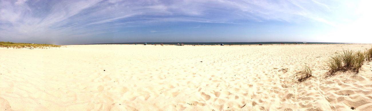 Sand Beach Panoramic Sunlight Summer Tranquil Scene Sea Coastline No People Nature Scenics Tranquility