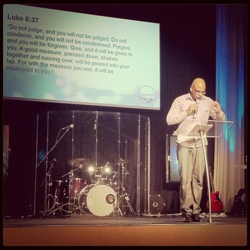 Snr. Pastor Joel Chelliah Giving Us A Good Measure Of The Word, Pressed Down, Shaken Together And Running Over.