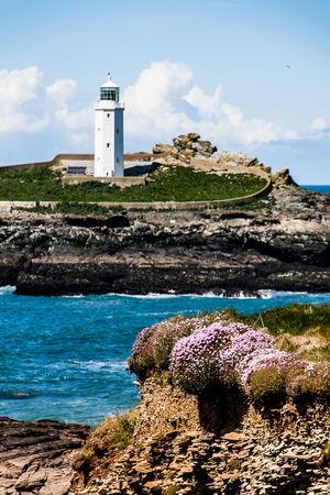 Lighthouse of Godrevy. Godrevy Beach Leuchtturm St Ives Bay St. Ives Cornwall Beach Blue Sky Cornwall England Godrevy Godrevy Lighthouse Leuchtturm Cornwall Leuchttürme Lighthouse_lovers Lighthousephotography Pilcher Rosamunde_pilcher Tide