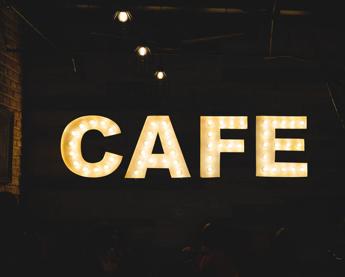 Cafe Coffee Time Communication Electric Light Electricity  Glowing Illuminated Light Bulb Lighting Equipment Night Text