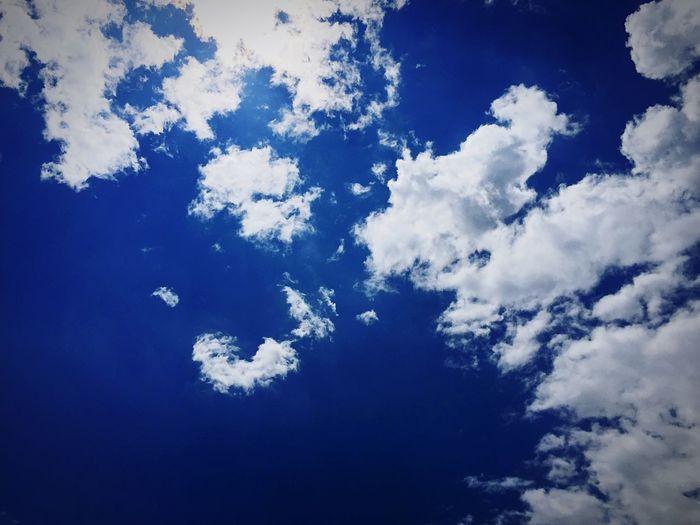 Sky Blue Sky Cloud Sunny Sunny Day By Lemonni