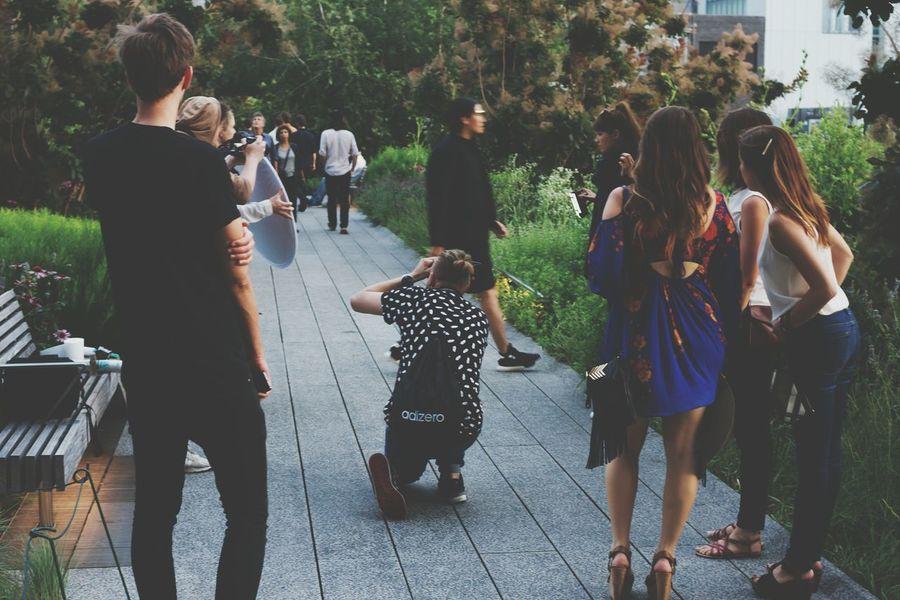 Highline fashion Photoshoot Highline Park Fashion Guerilla Art Blocking My Way
