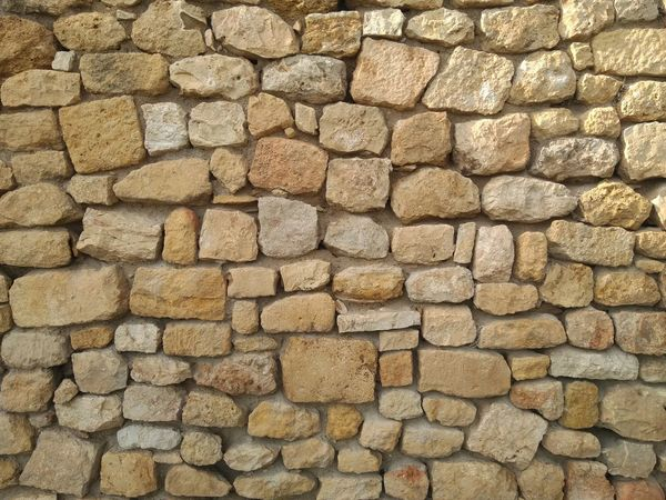Stone Wall Texture Backgrounds Full Frame Textured  Pattern Close-up Stone Wall Fortress Aged