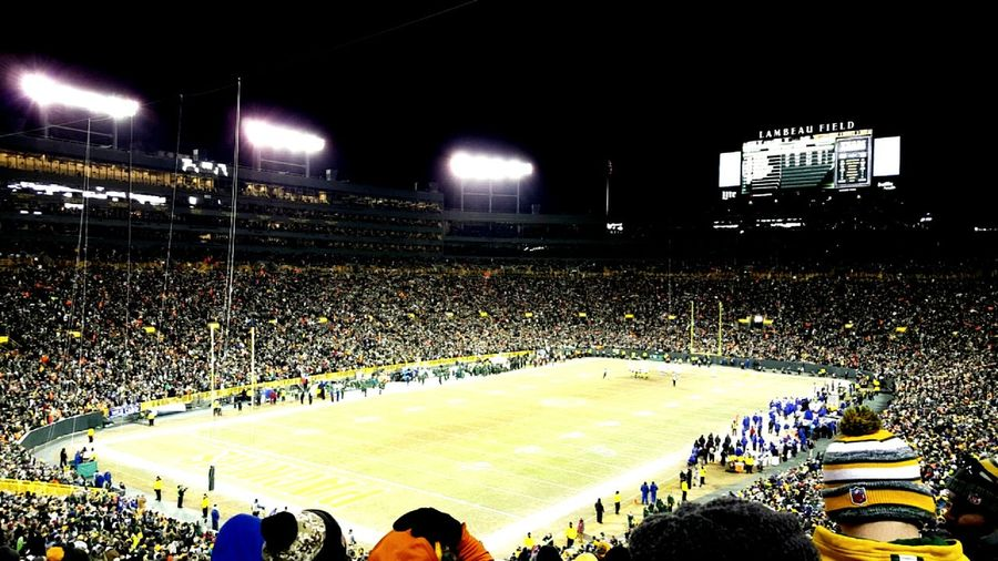 Packers Sport Stadium Illuminated Large Group Of People Packer Packernation Packer Fan Packersforever PackersGirl Packers Fan To The Fullest PACKERSFAITHFUL HAIL MARY PACKERSS!!! Packer's Fan Packers Pride Packer Game Packersgame Packer Nation! Football Fever Football Stadium Football Field Football Life Football Game Night