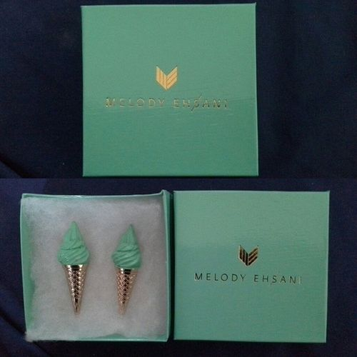 Everyone Who Knows Me Know I Love Mint Ice Cream & The Color Green. So I Treated Myself To A Pair Of Melody Ehsani Earrings FashionistaProblems Shedidthat AccessoriesJunkie MelodyEhsani