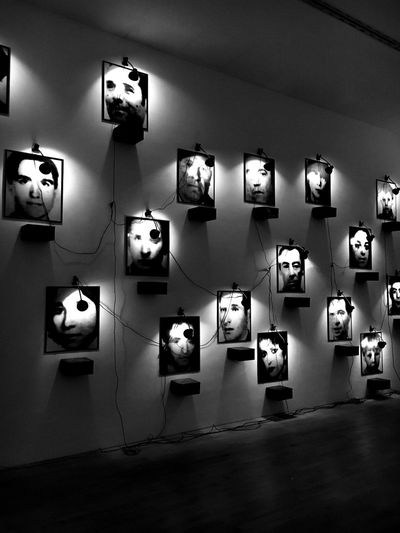 Illuminated Wall - Building Feature Lighting Equipment Musuem Blackandwhite Photography Artist Modern EyeEmNewHere ChristianBoltanski Black And White Friday