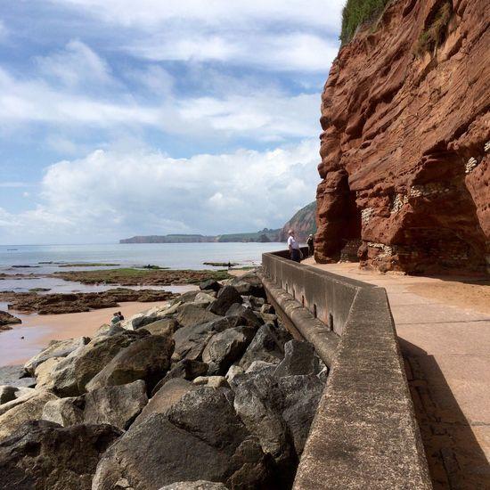 Sidmouth Devon Sea View Red Cliffs
