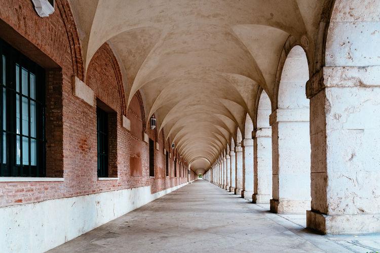 Empty corridor in built structure