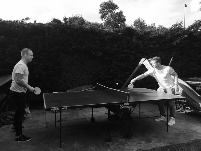 Two brothers and a competition. Capture The Moment Black&white Photography Black&white Blackandwhite Photography Blackandwhite EyeEm Gallery Loveforphotography Taking Photos Enjoy The Little Things PicturePerfect Check This Out Sports Pingpong Tabletennis Competition Brother Family