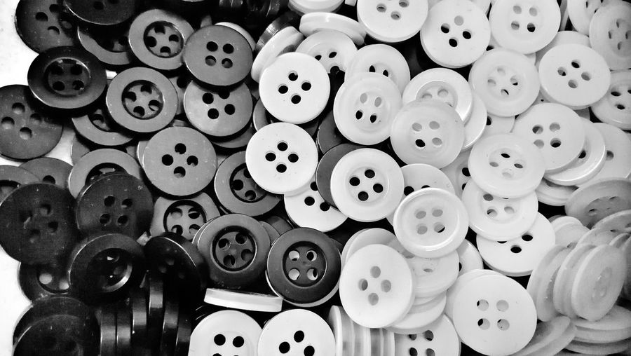 Full frame shot of buttons