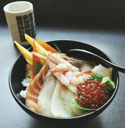 Don Japanese Food Rice Fish Seefood Sashimi  Lunch