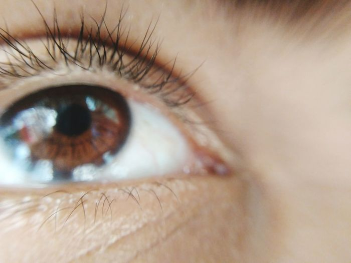 Full frame shot of person with brown eyes