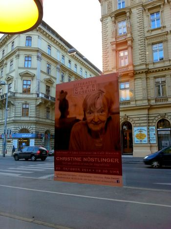 Cafe Museum Wien Old Vienna Christine Nöstlinger Plakat Affiche Retro Style Wien 2016 Hello World Check This Out Taking Photos Hanging Out EyeEm Best Shots Ymoart YMO Old But Awesome Old World Architecture