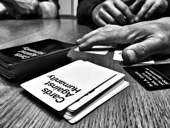 Good Times Fun With Friends Black & White Hand Cardsagainsthumanity Game Night