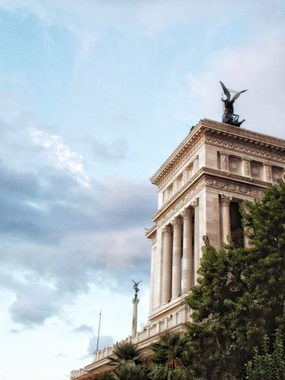 Architecture history sky architectural column travel destinations monument day low angle view built