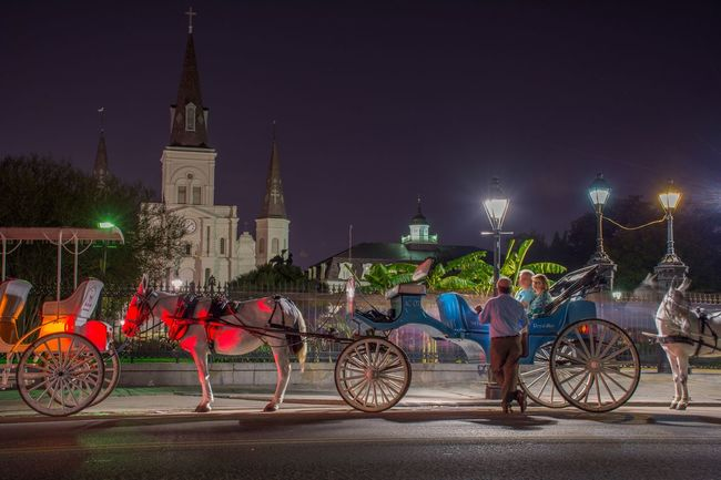Transportation Mode Of Transport Horse Cart Carriage Night Horsedrawn Mobility In Mega Cities Architecture Sky Real People City Building Exterior Spirituality Built Structure