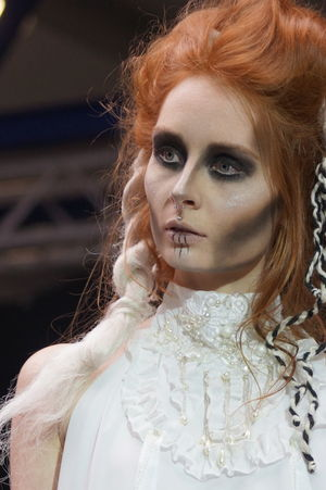 Beautiful Woman Close-up Fashion Show Goth Gothic Style Lifestyles Mera Luna Festival One Person People Portrait Real People Redhead Young Adult