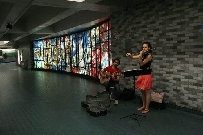 City Life Metro Station Montréal Subway Montreal, Canada Musicians Subway Station Subwayphotography Underground Station  Undergroundphotography