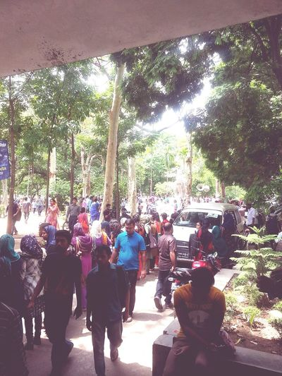 People Gather For Justice University Campus