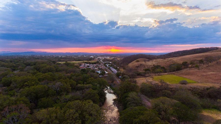 tomada con mi drone phantom 4 en la cuidad de cañas guanacaste Cityscape Cloud - Sky Dronephotography Forest Landscape Mountain Mountain Peak Nature Outdoors Sky Sunset Tree