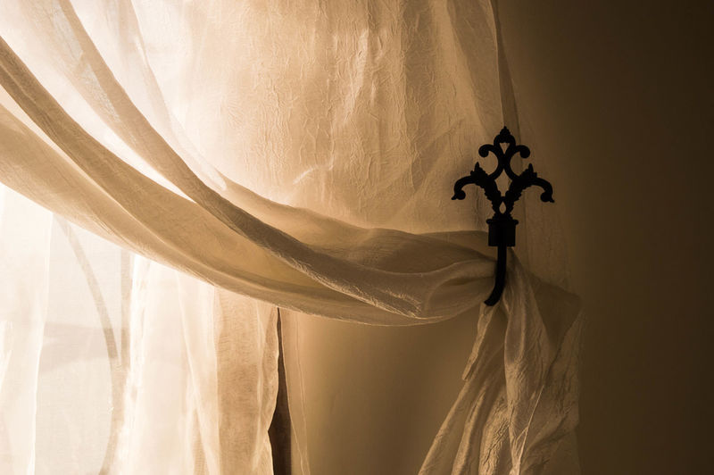 Look at my bedroom's wall, fascinating? Roof Room Close-up Coathanger Curtain Day Drapes  Fabric Hanging Indoors  Mysterious Mystery No People Scary Textile Window